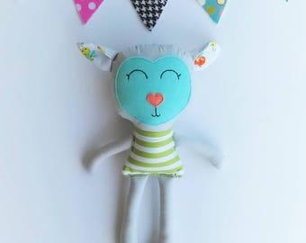 Lamb doll, Fabric doll, Handmade doll, Rag doll, Boys room decor, Boys toy, Baby gift, Cloth doll, Easter Basket Gift for Little Boy