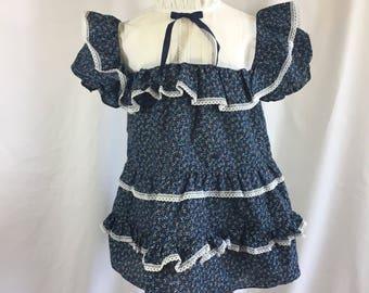 1980's Winnie the Pooh Girl's Vintage Dress - size 5 - Vintage Prairie Dress - Girl's Prairie Dress - 80's Vintage Dress - Vintage Winnie