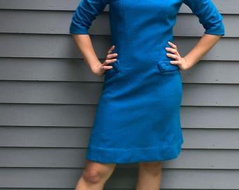 1950's Teal Wiggle Dress