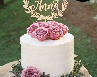 Wedding cake topper gold Custom names, Mr and Mrs Cake Topper Gold, Personalized Name Cake Topper, Cake topper with name, Silver Cake topper
