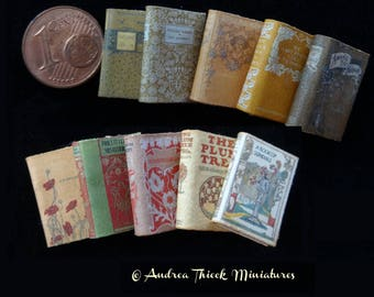 Vintage Miniature Books - 1/12  - choose the stack you like