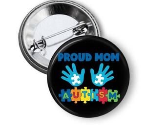 Autism Awareness Button - Autism Pin - Autism Awareness Button - Awareness Buttons