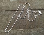 I Just Need A Chain! Solid Sterling Silver Snake Chain, Select Length, Add a Charm, Chain Only, Silver Chain, 18 Inch Chain, 20 Inch Chain