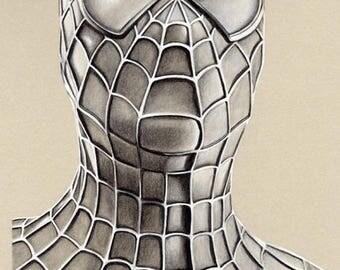 Spiderman - Original Charcoal Artwork