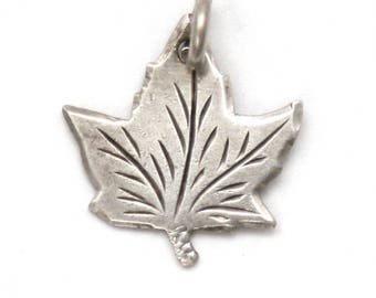 Sterling Silver Canadian Maple Leaf Bracelet Charm Canada