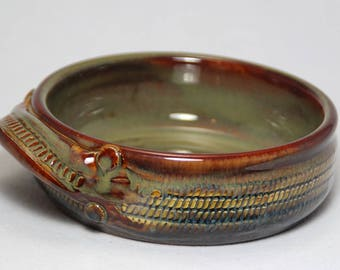 8oz brie baker, small servng bowl, dip dish, pottery bowl