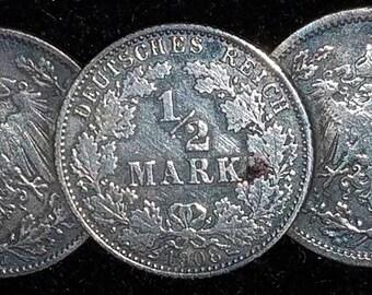 WW1 souvenir SILVER coin pin early 1900