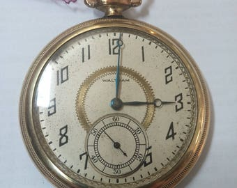 1919 Waltham pocket watch, size 12