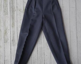 40's Pleated Pants Women's Wool Gabardine Ski Trousers Small