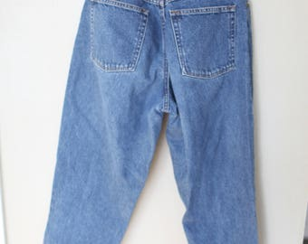 vintage LL bean high rise waist tapered mom  jeans denim 30