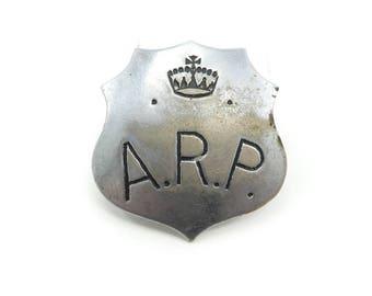 Vintage A.R.P. Badge, Air Raid Patrol