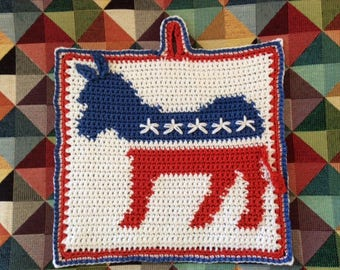 Democrats' Donkey logo Potholder