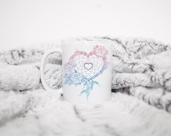 Heart Dream Catcher 11oz mug