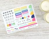 Flower Burst Hobonichi Monthly Planner Stickers; Spring Kit; Summer Kit; Monthly Sticker Kit; Hobonichi Techo Cousin Sticker