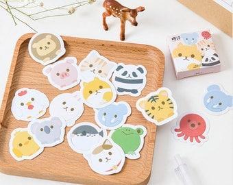 45 Pcs Cute Chubby Animal Stickers/Planner Sticker/Journal/Craft Supplies/Scrapbooking/Card Making/Panda/Chick/Koala/Pig/Cat/Lion/Elephant