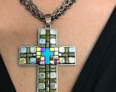 Large Mosaic Artisan Cross Unisex