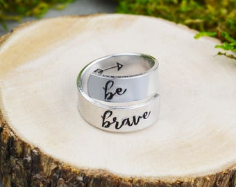 Be Brave Wrap Ring • Inspirational Jewelry