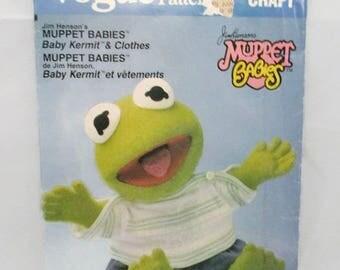 Vogue 598 Muppet Babies Baby Kermit UNCUT