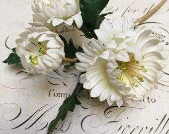 Sweet little trio of vintage millinery flowers