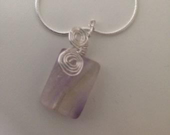 Flourite Spiral Necklace