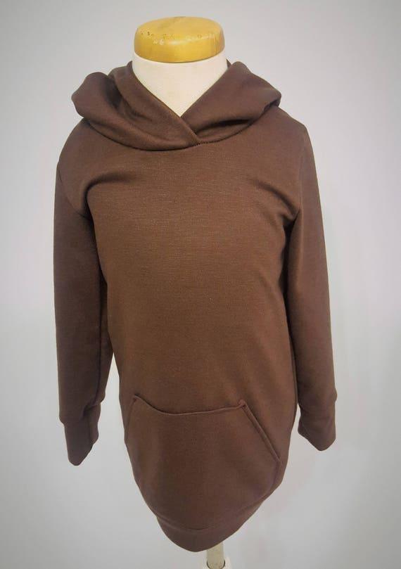 Chocolate Brown Knit Hoodie