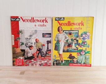 Vintage 1960s McCalls Needlework and Crafts Magazine McCalls Magazine Needlework Magazine Needlecraft Mid Century Magazine Knitting Magazine