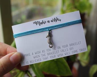 Make A Wish - Sea Horse Beach Animal Friendship Bracelet