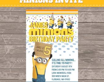minions party invitation
