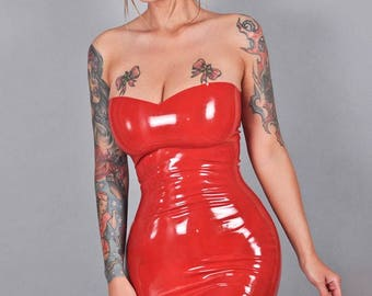 "Jessica Rabbit inspired cosplay latex dress ""Jess"""