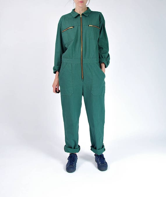 90s Street style workwear coveralls / size M-L-XL