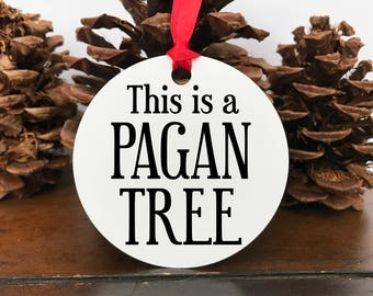 This is a Pagan Tree ornament, winter solstice, yule, pagan, atheist, tree, ornament
