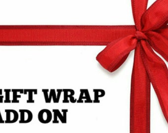 Gift Wrapping Service Add-On Wrapping Paper or Gift  Bag
