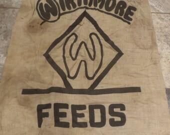 Cotton Wirthmore Feed Canvas Sack, Vintage Feed Bag, Vintage Textile