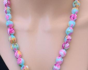 Bead Balls Chiffon Necklace