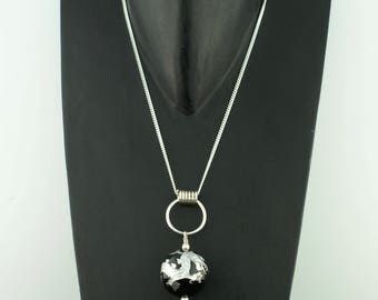 GOT Sterling Silver Dragon Bead Pendant