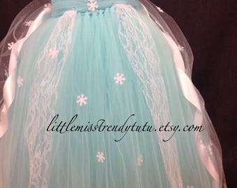 Elsa Costume, Frozen Costume, Elsa Tutu Dress, Frozen Tutu Dress, Elsa Costume with Cape, Frozen Tutu, Halloween Costumes, Frozen, Elsa