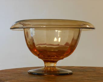 Brown Art Glass Bowl