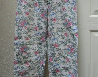 Vintage 80's Lee jeans high waisted mom cut RARE printed denim size 14