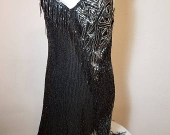 FREE  SHIPPING     Flapper  Style Beaded Dress