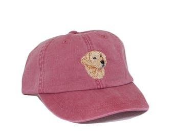 Golden retriever embroidered hat, baseball cap, animal, dog lover gift, pet mom cap, dog mom, gift for pet lover, dad hat, dog agility