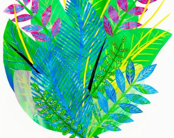 Limited edition Giclée foliage art print