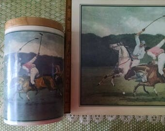 Vintage Polo Match Place-mats and Canister