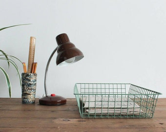 Vintage Green Wire Desk Tray