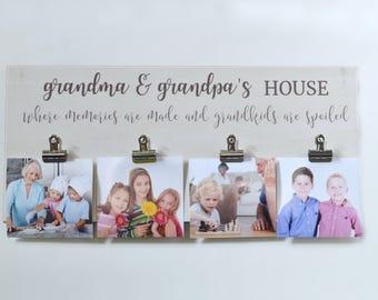 Grandchildren Photo Frame, Grandparents Gift, Grandparent Picture Frame, Christmas Gift For Grandparents, Personalized Frame, Custom Gift