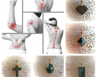 Necklace pendant Hematite for arthritis / pain ARTICULAIRES