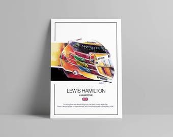 Lewis Hamilton Helmet 2017 F1 Art