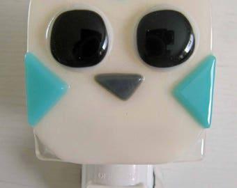 Ava - Owl: Fused Glass Night Light - Free Shipping!