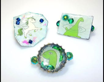 Mythical Creature Brooches