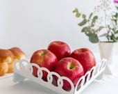 Rosh-Hashanah tray, Table decor, Table Centerpiece gift , Fruit Tray, modern Judaica geometric style, made in Israel