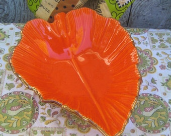 Clearance! California USA Ceramic Leaf Dish - Decor, Snacks, Jewelry, Soaps, What-not Holder